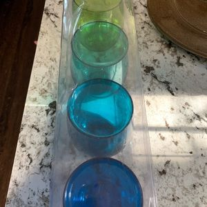 Acrylic stemless wine glass cups set of -5